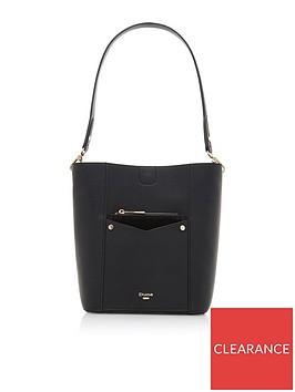 dune-london-dorgie-pocket-front-bucket-bag-black
