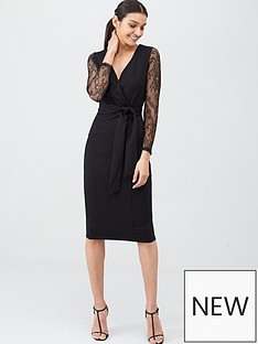 v-by-very-lace-sleeve-scuba-bodycon-dress-black