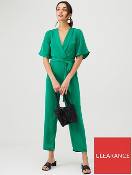 v-by-very-wrap-casual-jumpsuit-green