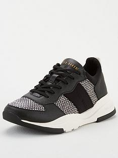 ted-baker-weverds-embossed-snake-effect-chunky-trainer-blacknbsp