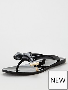 ted-baker-luzzi-origami-bow-flip-flops-black
