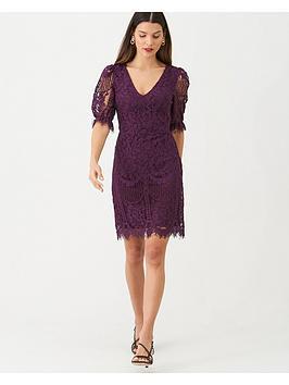 v-by-very-v-neck-floral-lace-dress-purple