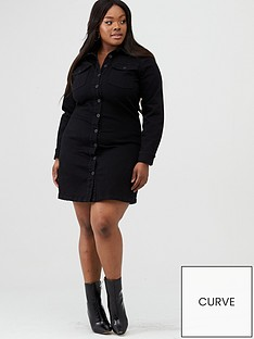 v-by-very-curve-black-wash-shirt-denim-dress-blacknbsp