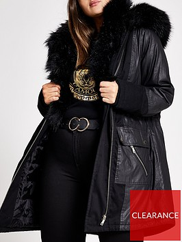 ri-plus-faux-fur-trim-parka-black