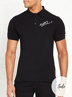 just-cavalli-logo-polo-shirt-black