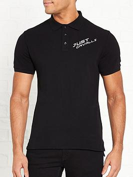 just-cavalli-logo-polo-shirt-black