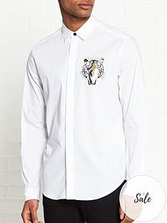 just-cavalli-tiger-face-logo-shirt-white