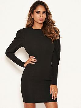 ax-paris-puff-sleeved-bodycon-dress-black