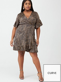 ax-paris-curve-printed-wrap-dress