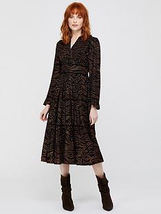 monsoon-mara-foil-star-print-tiered-dress-black