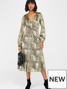 monsoon-vanessa-twist-midi-dress-gold