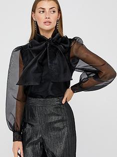 monsoon-oprah-organza-bow-blouse-black