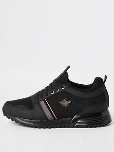 river-island-black-mcmlxxvi-lace-up-trainers