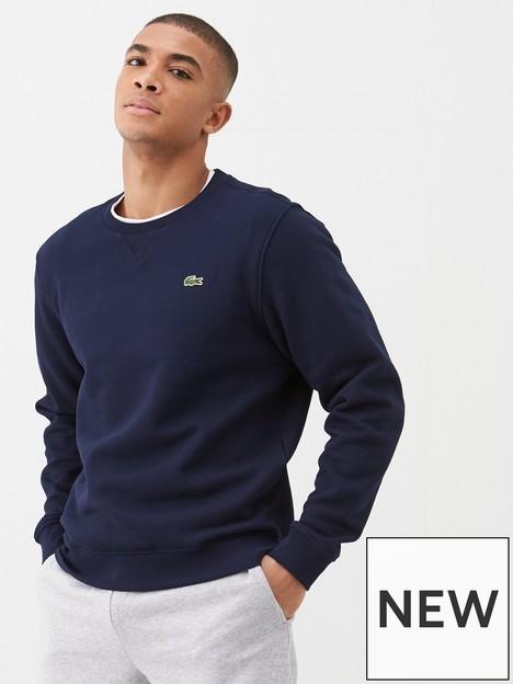 lacoste-sports-classic-sweatshirt-navy