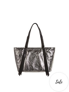 allsaints-miki-lea-distressed-metallic-tote-bag-silver