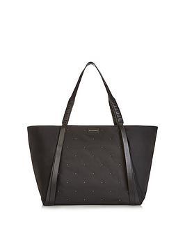 allsaints-nilo-stud-nylon-tote-bag-black