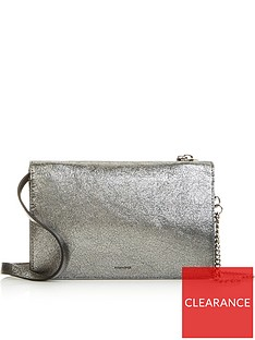 allsaints-miki-lea-distressed-metallic-wallet-on-a-chain-cross-body-bag-silver