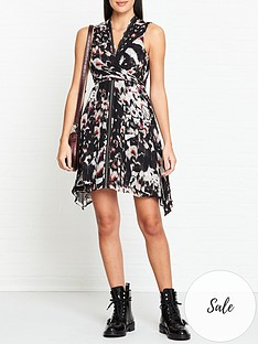 allsaints-jayda-wing-print-dress-black