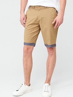 very-man-chino-chambray-roll-shorts-tan