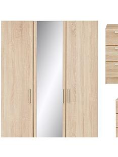 waterford-4-piece-package-3-door-mirrored-wardrobe-chest-of-5-drawers-and-2-bedside-chests