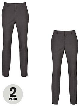 very-man-2-pack-slim-trousers-grey