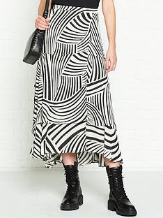 allsaints-elie-zebra-print-skirt-white