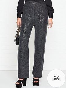 allsaints-leanna-sparkle-trousers-gunmetal
