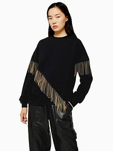 topshop-chain-fringe-sweat-top-black