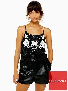 topshop-embellishednbspsequin-caminbsp--black