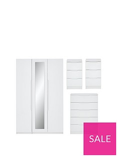 monaco-part-assemblednbsp4-piece-gloss-package-3-door-mirrored-wardrobe-5-drawer-chest-and-2-bedside-chests