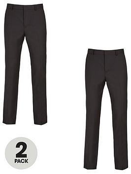 very-man-2-pack-regular-trousers-black