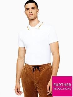 topman-topman-knitted-short-sleeve-polo-shirt-white