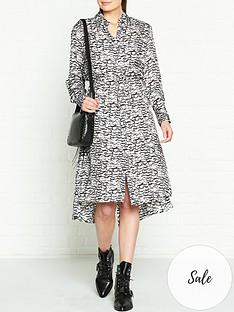allsaints-anya-plume-shirt-dress-blackwhite