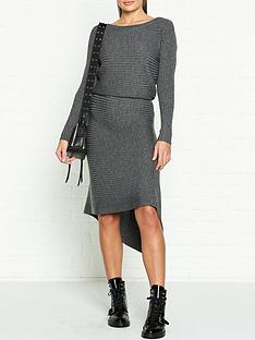 allsaints-eva-metallic-rib-knit-dress-grey