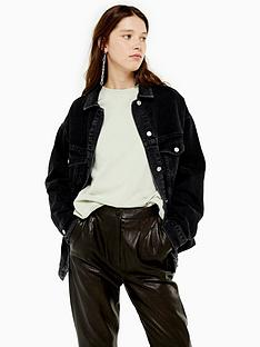 topshop-oversized-denim-jacket-black