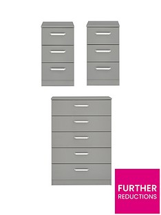 sanford-high-gloss-ready-assembled-3-piece-package-chest-of-5-drawers-and-2-bedside-chests