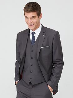 v-by-very-stretch-slim-suit-jacket-grey