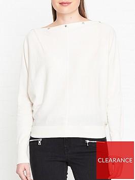 allsaints-elle-button-detail-jumper-white