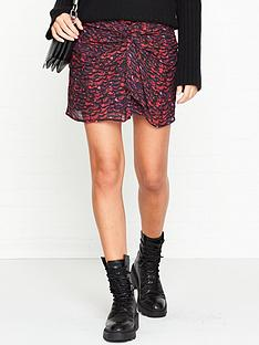 allsaints-rylie-plume-print-skirt-pink