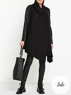 allsaints-monument-lea-leather-sleeve-coat-black