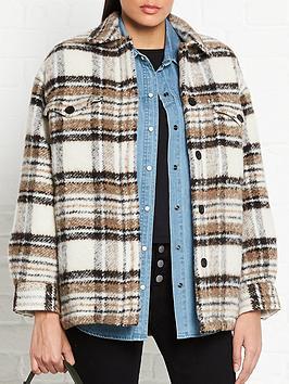 allsaints-luella-check-jacket-ecru