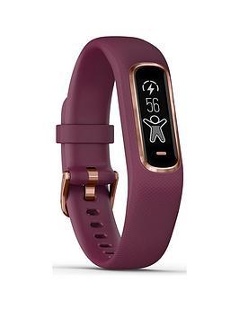 garmin-vivosmart-4-smart-activity-tracker-with-wrist-based-heart-rate-and-fitness-monitoring-toolsnbsp--berry-smallmedium