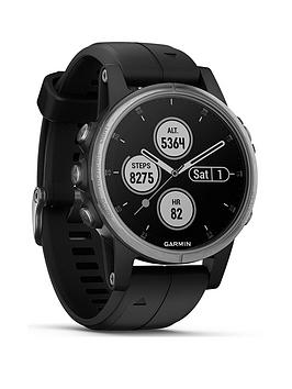 garmin-fenix-5s-plus-compact-multisport-watch-with-music-maps-and-garmin-pay-silver-with-black-band