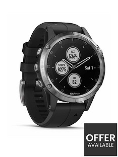 garmin-fenix-5-plus-multisport-watch-with-music-maps-and-garmin-pay-silver-with-black-band