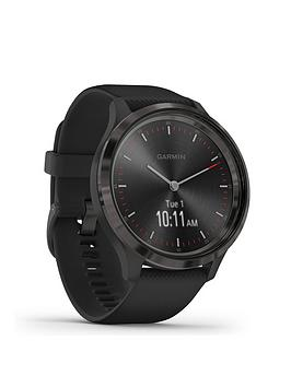 Garmin Vivomove 3 Hybrid Smartwatch - Black Silicone Strap With Slate Hardware