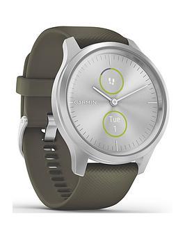 Garmin Vivomove Style Hybrid Smartwatch - White Silicone Strap With Rose Gold Hardware