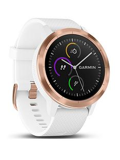 garmin-vivoactive-3-gps-smartwatch-with-built-in-sports-apps-and-wrist-heart-rate-rose-gold-with-white-band