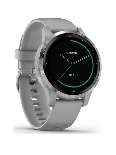 garmin-garmin-vivoactive-4s-smaller-sized-gps-smartwatch-features-music-body-energy-monitoring-animated-workouts-pulse-ox-sensors-and-more-powder-graysilver