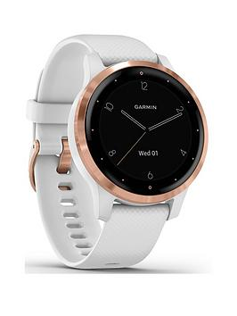 Garmin Vivoactive 4S Smaller-Sized Gps Smartwatch, Features Music, Body Energy Monitoring, Animated Workouts, Pulse Ox Sensors And More