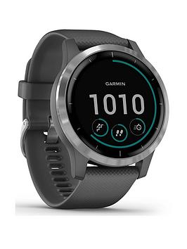 Garmin Vivoactive 4, Gps Smartwatch, Features Music, Body Energy Monitoring, Animated Workouts, Pulse Ox Sensors And More - Shadow Gray/Silver
